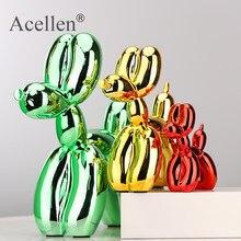 Figuritas decorativas de resina, figuras de animales que simulan un perro hecho con globos, con estera antideslizante, estatua artística, acabado brillante, escultura de artesanía, decoración para el hogar