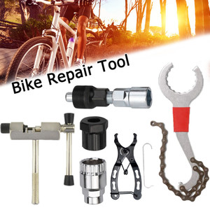 Bicycle Repair Tool Sets Kits Chain Crank Wheel Extractor Outdoor Cycling Pedal Remover Puller Tool MTB Bike Axle Remover
