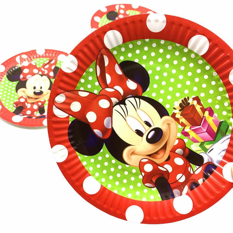 Disney minnie mouse meninas crianças decorações de festa copos de papel guardanapos pratos palhas chá de bebê aniversário minions festa suprimentos