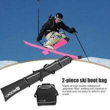 Handbag-Pouch Snowboard Waterproof Portable for Men Women Black 2pcs Reinforced Ski-Boots