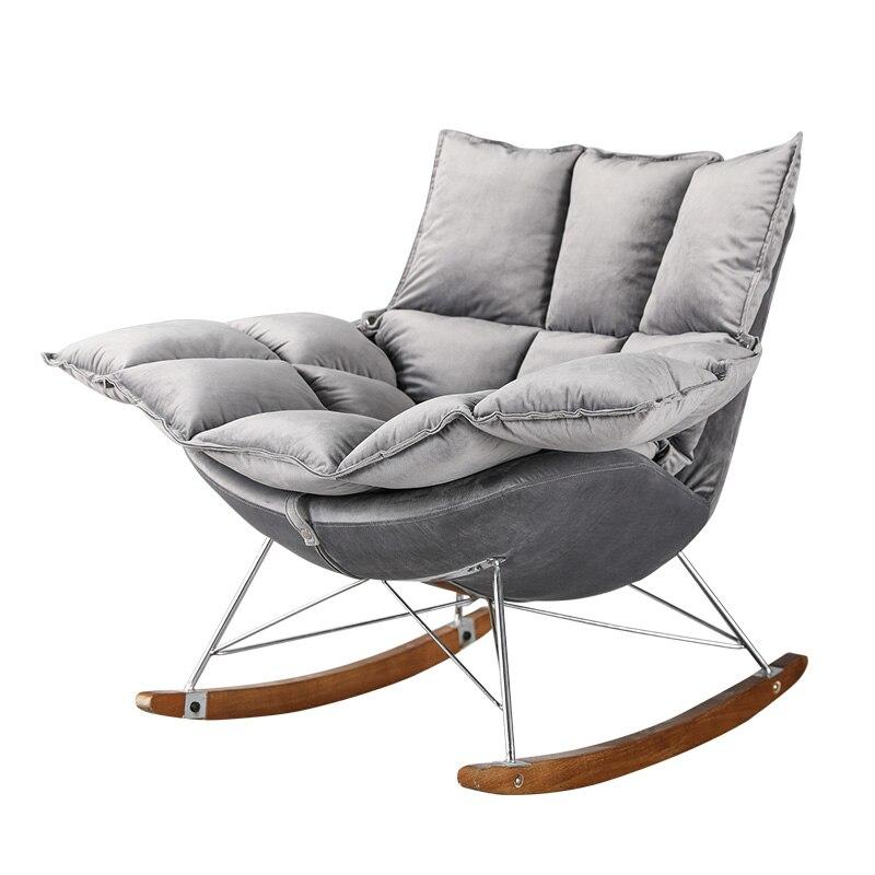 Nordic Lounge Single Rocking Chair  Lazy Chair Balcony Chair Rocking Chair Modern  Mecedora Schommelstoel Sallanan Sandalye