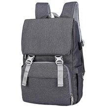 Сумка для детских подгузников с интерфейсом Usb, большая сумка для пеленания, дорожный рюкзак для беременных мам, сумки для кормления(темно-серый