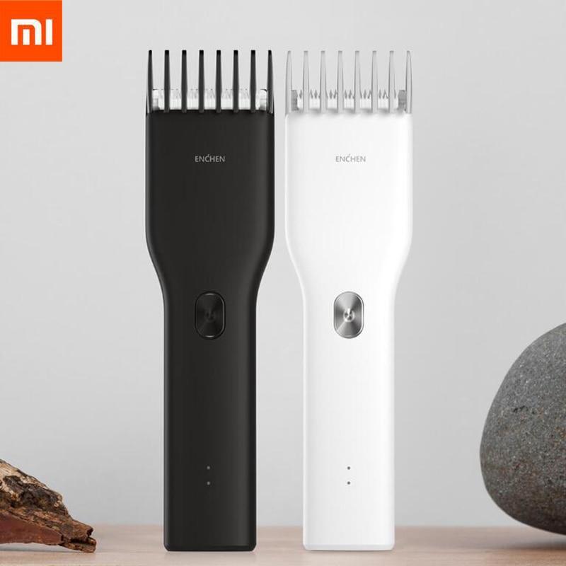 Xiaomi Enchen Boost USB электрическая машинка для стрижки волос с двумя скоростями Керамический Резак для волос быстрая зарядка триммер для волос Про...