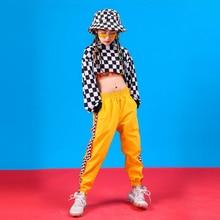 Kids Hip Hop Clothing Dance Costume for Girls Cropped Sweatshirt Shirt Top Jogger Pants Jazz Ballroom Dancing Streetwear Clothes