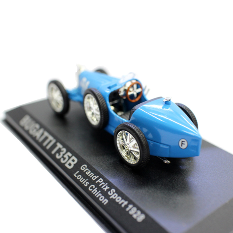 <font><b>1:43</b></font> 1928 BUGATI T35B <font><b>Diecast</b></font> Alloy Classic Racing Car Vehicle Model Simulation <font><b>Vintage</b></font> Display Show Collection Artwork Kid Gift image