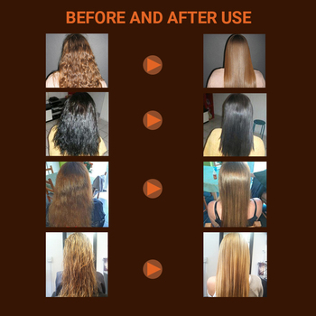 Brazilian Keratin Treatment 8% Formalin Straighten and Repair Smoothing for Strong Curly Hair