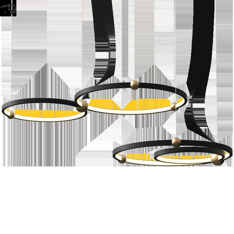Simple Art moderne cercle anneau en métal pendentif lumières minimaliste nordique Led suspension lampe salle à manger Restaurant salon magasins