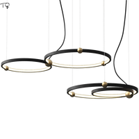 Simple Modern Art Circle Metal Ring Pendant Lights Minimalist Nordic Led Hanging Lamp Dining Room Restaurant Living Room Stores