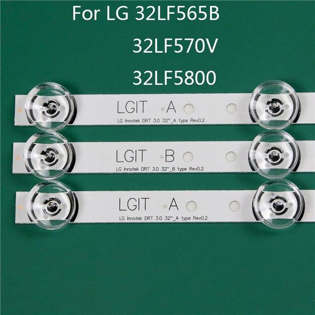LED TV Illumination Part Replacement For LG 32LF5800 ZA 32LF565B SE 32LF570V LED Bar Backlight Strip Line Ruler DRT3.0 32 A B