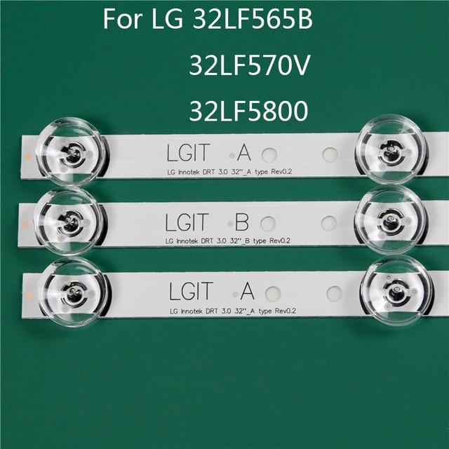 LED TV الإضاءة جزء بديل لـ LG 32LF5800 ZA 32LF565B SE 32LF570V عمود إضاءة LED شريط إضاءة خلفي خط حاكم DRT3.0 32 ab