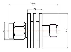Image 3 - Atténuateur RF SMA atténuation fixe coaxiale ATT: 1 40dB; fréquence Freq: DC 6G; puissance Pwr: 5w 50ohm