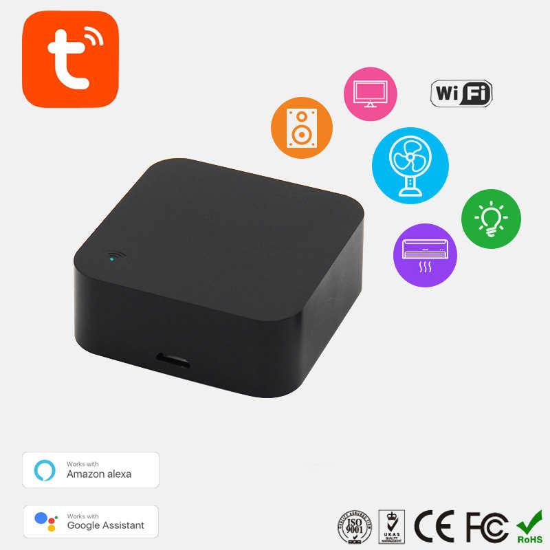 أصغر دقيقة واي فاي الذكية الأشعة تحت الحمراء للتحكم عن بعد المنزل الذكي متوافق مع اليكسا ، مساعد جوجل ، IFTTT ، الحياة الذكية ، TuyaSmart