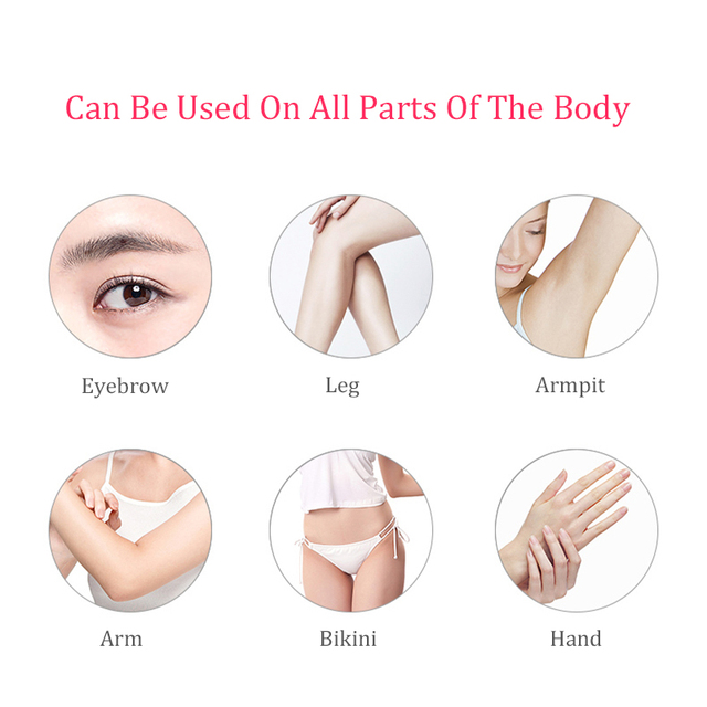Mini Body Facial Electric Hair Remover Lipstick Shape Painless Safety Neck Leg Hair Remover Tool Body Epilator 2