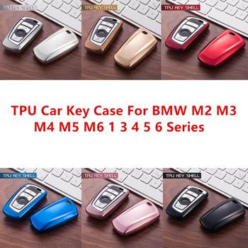 TPU Remote Smart Car Key Fob Case Shell Cover For BMW M2 M3 M4 M5 M6 X3 1 3 4 5 6 Series 340i 420i 520 525 f30 f10 F18 118i 320i image