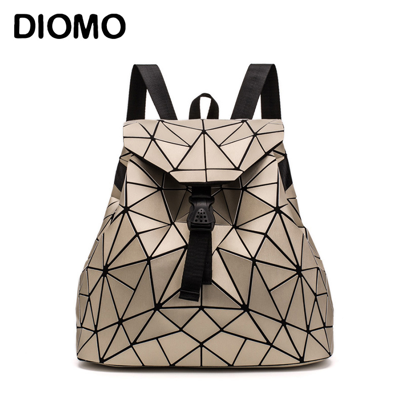 DIOMO 2018 Irregular Geometric Triangle Sequin Backpack Women Bagpack Fashion Female Backpacks For Girls Rugzak Back Pack