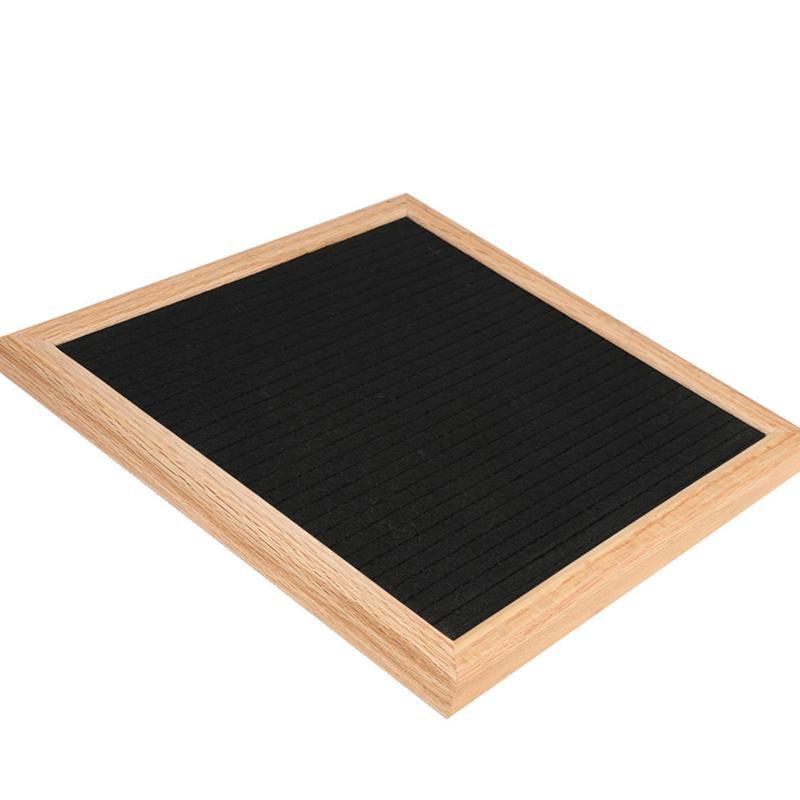 10x10 Inches Felt Cloth Message Board Home Decor Wooden Schedule Modern Chalkboard Blackboard Bulletin Board-Black