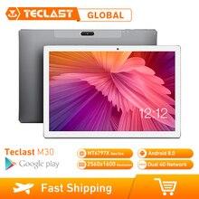 Teclast m30 태블릿 pc 10.1 인치 4g 네트워크 안드로이드 8.0 4 gb ram 128 gb rom mt6797 x27 deca 코어 2560*1600 7500 mah gps 듀얼 와이파이