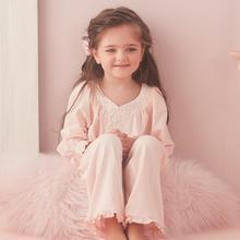Autumn Winter Soft Pajamas For Girls Long Sleeve Pants Suit Sleepwear Princess Pyjamas Toddler Girls Weekend Home Night Wear