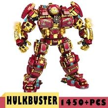 цена на Marvel Series Blocks The Avenger Iron man Hulkbuster Building Blocks Bricks Super Heroes Blocks Children Kids Toys Gifts