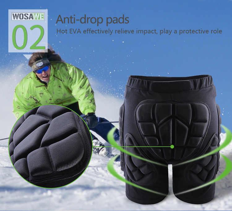 WOSAWE зимние спортивные лыжные зимние шорты защитные бедра ягодицы с подкладкой Love мужские лыжные сноубордические штаны для скейта защита
