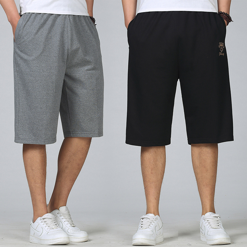 Large Size Men's Trousers Summer Sports Casual Capri Pants Loose-Fit Shorts Plus-sized Hip Hop Lard-bucket