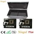 2 шт 1500 Вт Fogger с 24x9 Вт RGB светодиодный свет/DMX512 пульт дистанционного управления дымовая машина/сценическая Вертикальная светодиодная дым-маш...