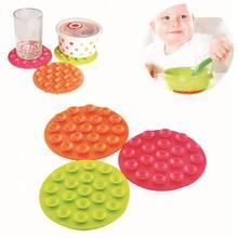 Nova alimentação do bebê tigela copo anti deslizamento placemat dupla face 19 sucção otário esteira almofadas utensílios de mesa fixo não deslizamento