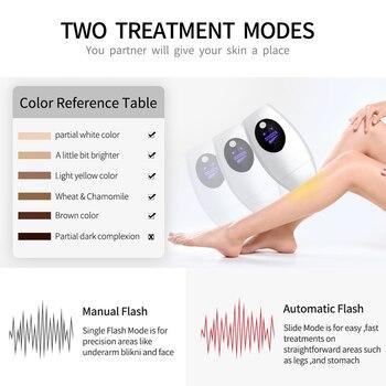 600000 flash professional permanent IPL Laser Depilator LCD laser hair removal Photoepilator women painless hair remover machine 1