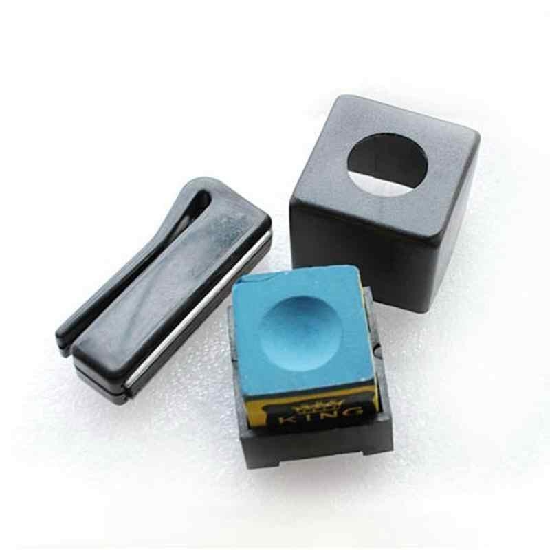 1 szt. Bilard Snooker mocna magnetyczna podstawka na kredę Cue podstawka na kredę z zaczepem na pasek akcesoria do snookera wysokiej jakości