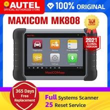 Autel maxicom mk808 mx808 obd obdii ferramenta de diagnóstico obd2 scanner completo de sistemas diagnóstico scanner autel tablet scanner automotivo