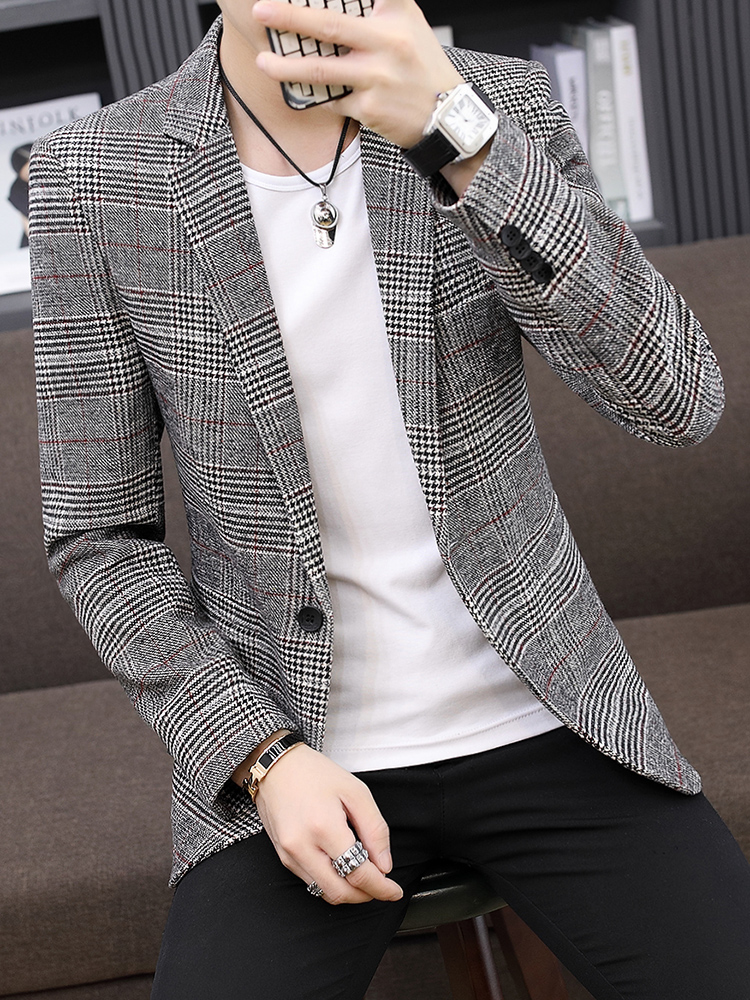 Grey Men Casual Coat Blazer Male Suit Jackets Xxxl Men Blazer Stylish Mens Casual Coat 2020 Tunica Hombre Gents Suits JJ60XX