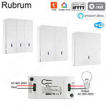 Rubrum Rf 433 Ac 220V Ontvanger Smart Home Wifi Draadloze Afstandsbediening Smart Switch Smart Leven/Tuya App werkt Met Alexa Google