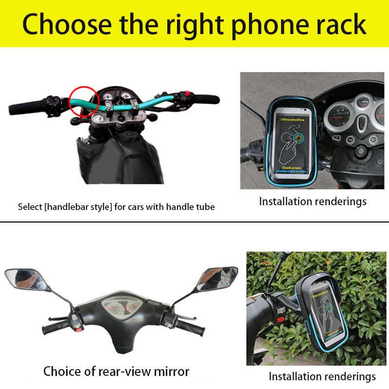 Wasserdichte Fahrrad Handy Halter Universal Bike Motorrad Mobile Unterstützung für iphone X 8 S8 S9 GPS Fahrrad Halter