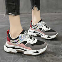 Spring New Mixed Color Women Sneakers Fashion Thick Bottom Women Platform Sneakers Casual Shoes Zapatos De Mujer Ladies Footwear