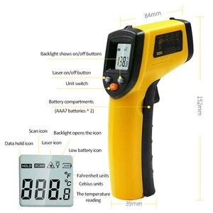Image 5 - GM320 LCD 디지털 비접촉 적외선 온도계 온도계 건 50 ~ 380 학위 휴대용 레이저 고온계 IR 온도계