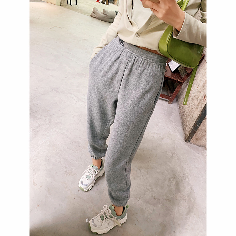 Mishow 2020 New Spring Solid Pants Women Casual Loose High Waist Basic Haren Trousers Female Sweatpants MX20A2148