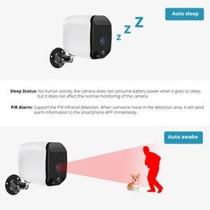 Image 4 - KERUI sans fil H.264 extérieur 1080 P Full HD 2.4G WiFi 18650 batterie IP caméra intérieure de Surveillance de sécurité à domicile caméra de IR CUT