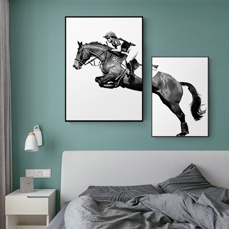 Light Luxury Living Room Modern Simple Decorative Painting Creative Combination Wall Bedroom Mural Horse Restaurant
