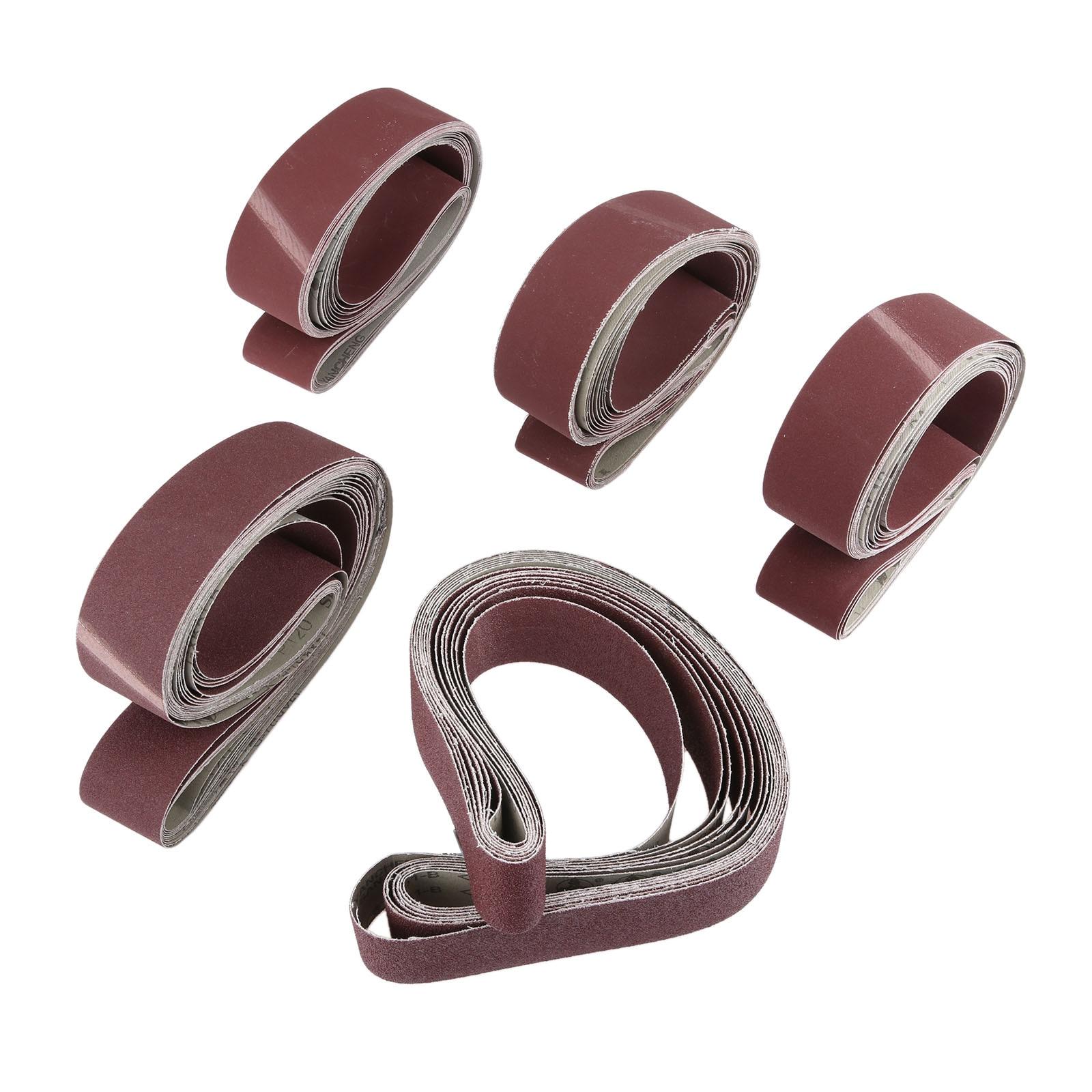 10Pcs 50x1220mm Polishing Abrasive Sanding Belts Grit 60-600 Coarse Grinding Belt Grinder Sander Belt Dremel Accessories 48*2