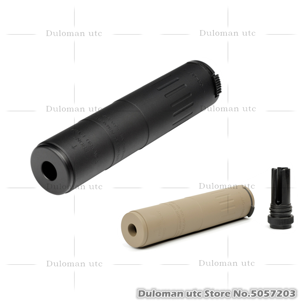 Duloman utc AAC M4-2000 556-SD Masada MK18 Airsoft Silence Full Metal Sound Suppresso w/ 14mm CCW QD 51T Comp Barrel-Extension(China)