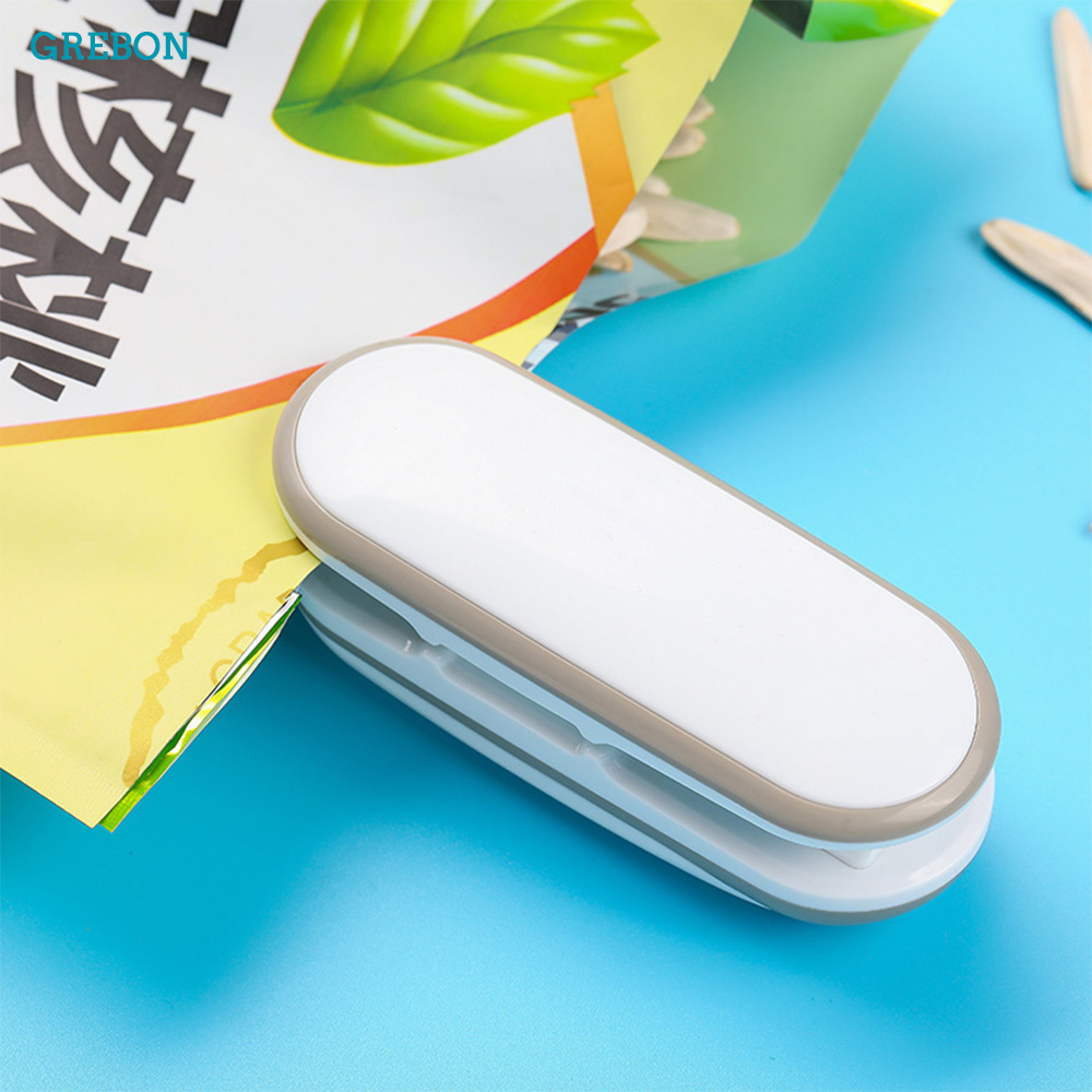 Portable Mini Sealing Machine Plastic Bag Clip Impulse Sealer Thermal Packer Portable Food Storage Kitchen Gadget Handheld Tool