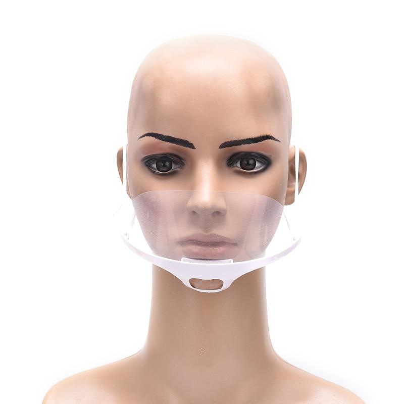 1pcs Reused Transparent Anti-fog Anti-saliva Mouth Shield Plastic Mouth Cover