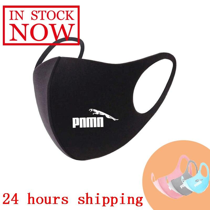 印刷洗えるイヤーループのフェイス呼吸マスクユニセックスサイクリングアンチダスト環境口マスクレスピレーターファッションブラックマスク