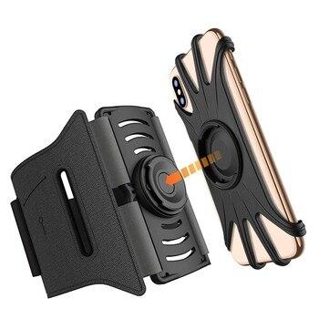 CARPRIE odpinany opaska do biegania dla 4-6.5 Cal telefon uchwyt na telefon komórkowy 360 obrotowy stojak na telefon