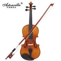 AV 03 Natural Color Light Violin Tiger Pattern Solid Wood Violin Manufacturers Wholesale Manufacturers Wholesale