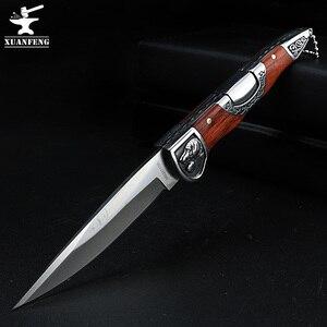Image 1 - Складной нож высокой твердости, портативный уличный клинок, для кемпинга, охоты, самообороны