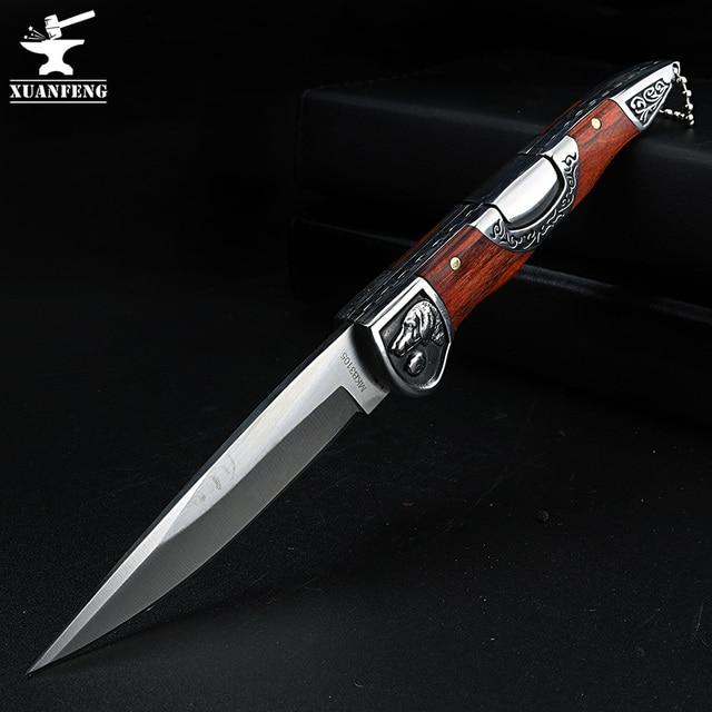 Складной нож высокой твердости, портативный уличный клинок, для кемпинга, охоты, самообороны