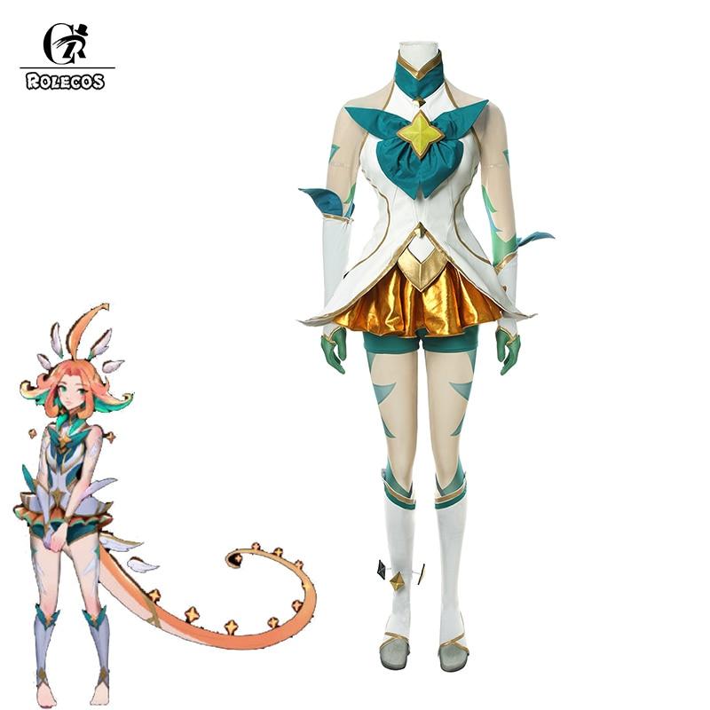 ROLECOS Game LOL Neeko Cosplay Costume LOL Star Guardian Neeko Cosplay Costume The Curious Chameleon Sexy Dress Women Uniform