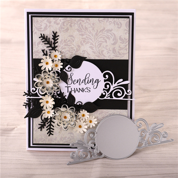 YaMinSanNiO koło z koronki Die wykrojniki do scrapbookingu tworzenie kartek papier do albumów Craft tłoczenie Diecut szablon nowy 2019 tanie i dobre opinie Frame DMZH134 49*120mm Metal cutting dies Silver Carbon steel Applicable to all machines Custom craft dies