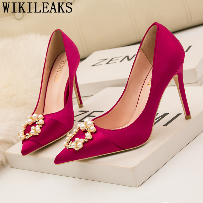 wedding shoes bride luxury heels elegant shoes for woman fashion ...